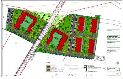 Plán zástavby - bytové domy PANORAMA KYJE II